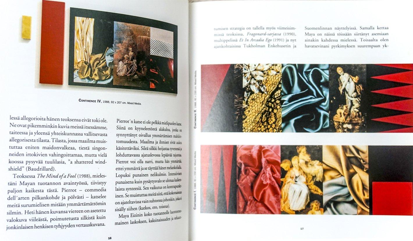Maya Eizin Oijer BOOK SPREAD NORDIC ARTS CENTRE